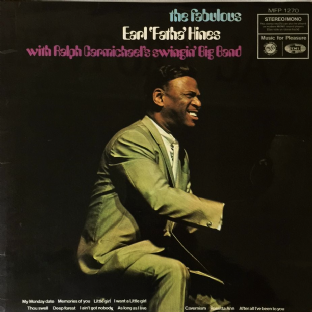 Earl Hines With Ralph Carmichael's Swingin' Big Band ‎- The Fabulous Earl 'Fatha' Hines (LP) (VG/G++)